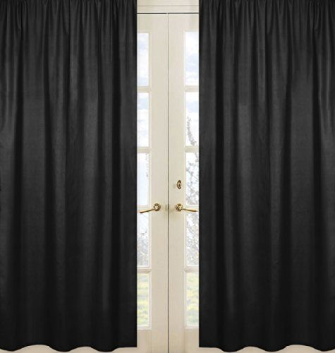 Solid Black Window Treatment Panels For Kids And Teens Ch Https