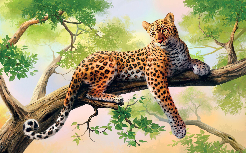 Leopart Art Tiger - Cool Wallpapers Download