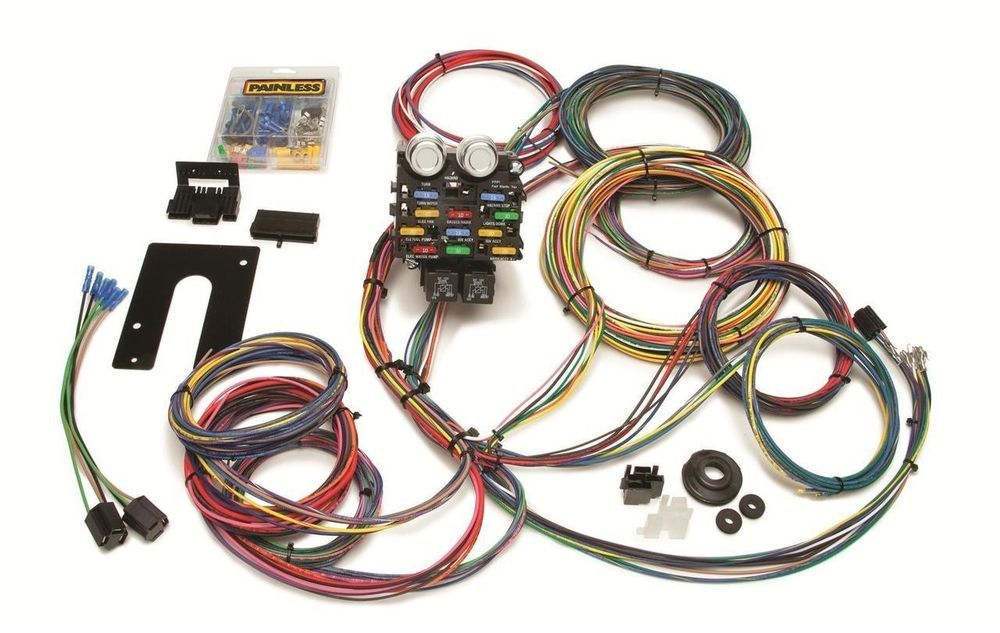 Painless Performance 21 Circuit Pro Street Chassis Wiring Harnesses 50002 Ebay Harness Circuit Wire