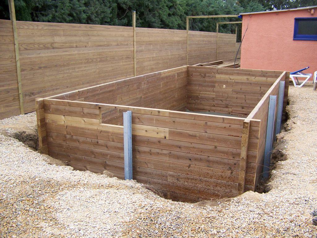 amnagement piscine bois rectangulaire semi enterre - Piscine Bois Rectangulaire Enterree