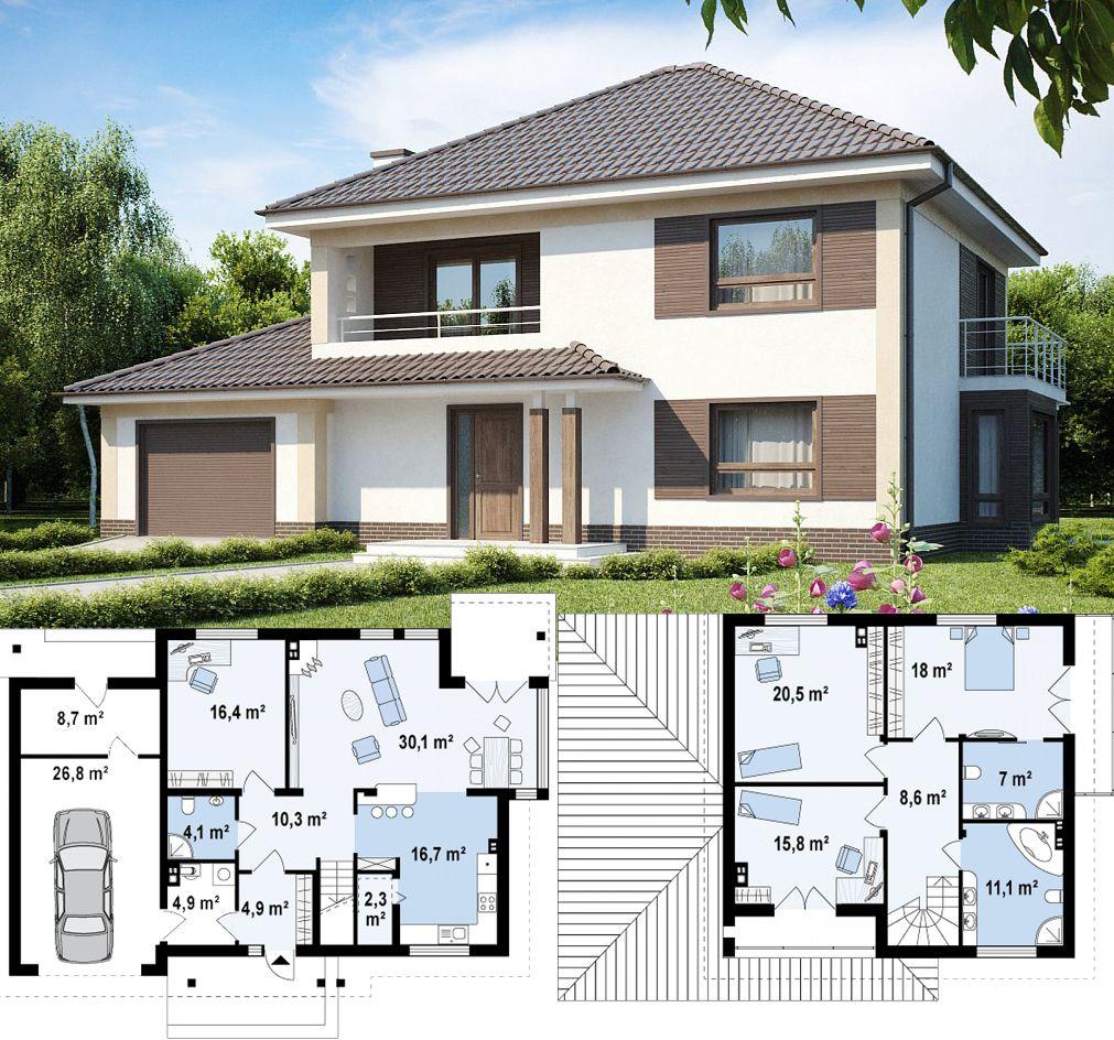 План домов и коттеджей с гаражом фото