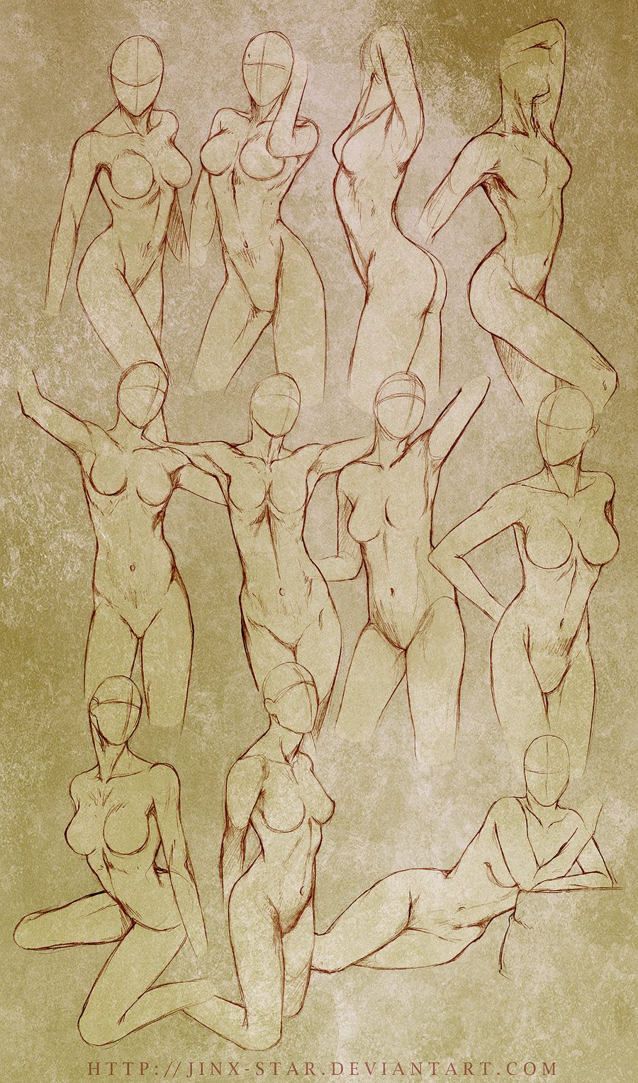 Female Body Study\