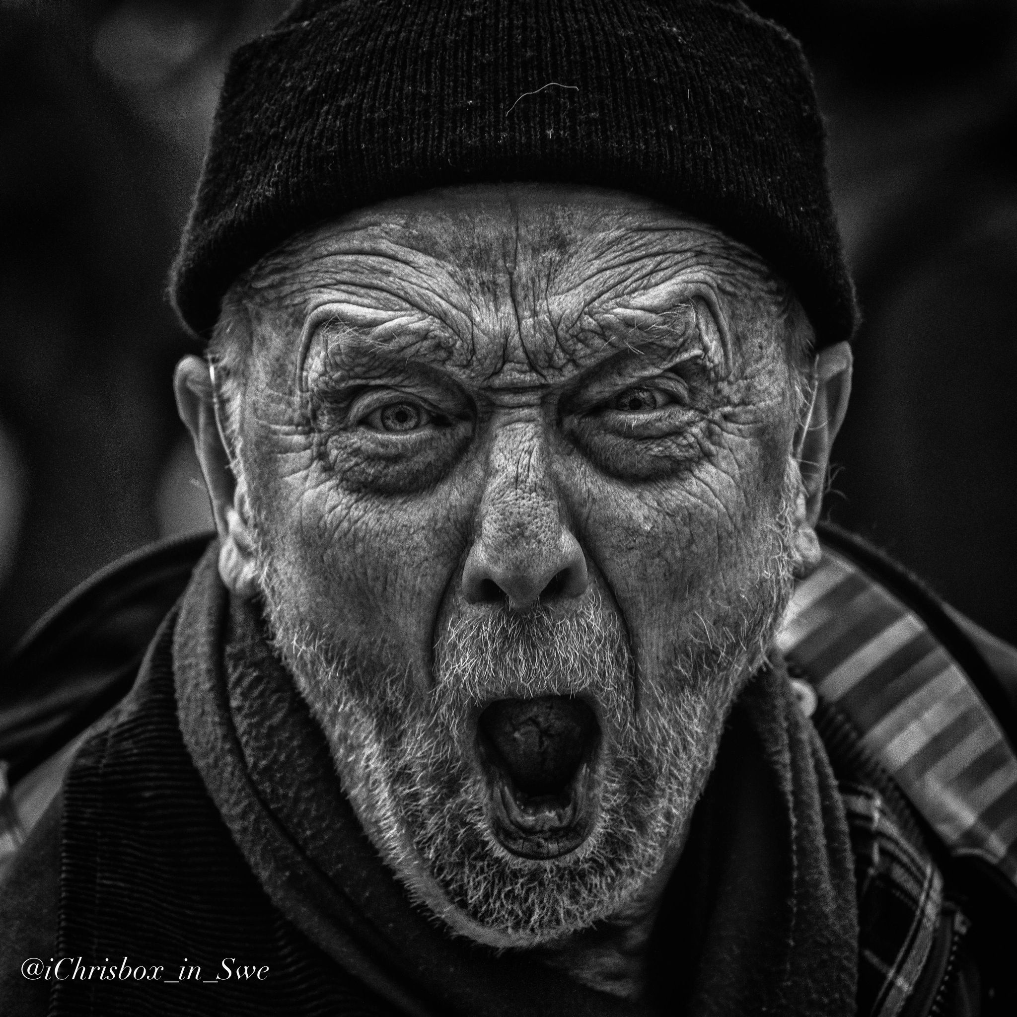 Angry Old Man Drawing Pin by Neil Ber...