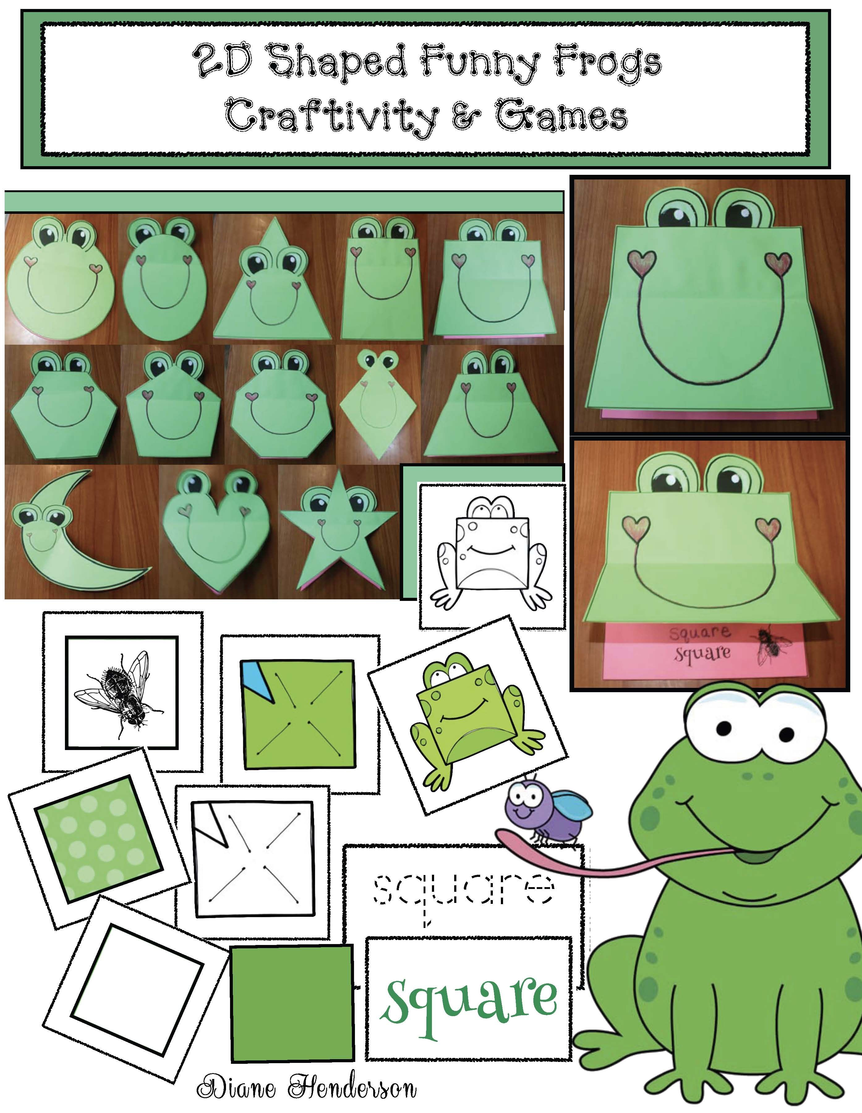 2d Shape Activities Funny Frogs Craft Amp Games