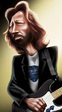Caricature Eric clapton