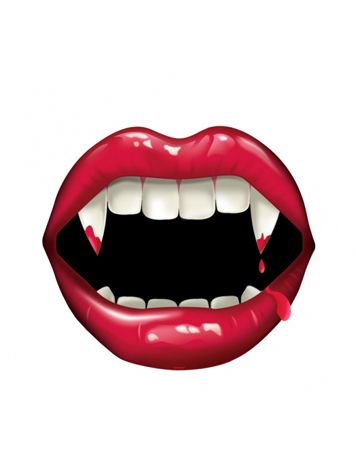 FANGTASTIC PRINTED CUTOUT - Use this vampire mouth cutout to