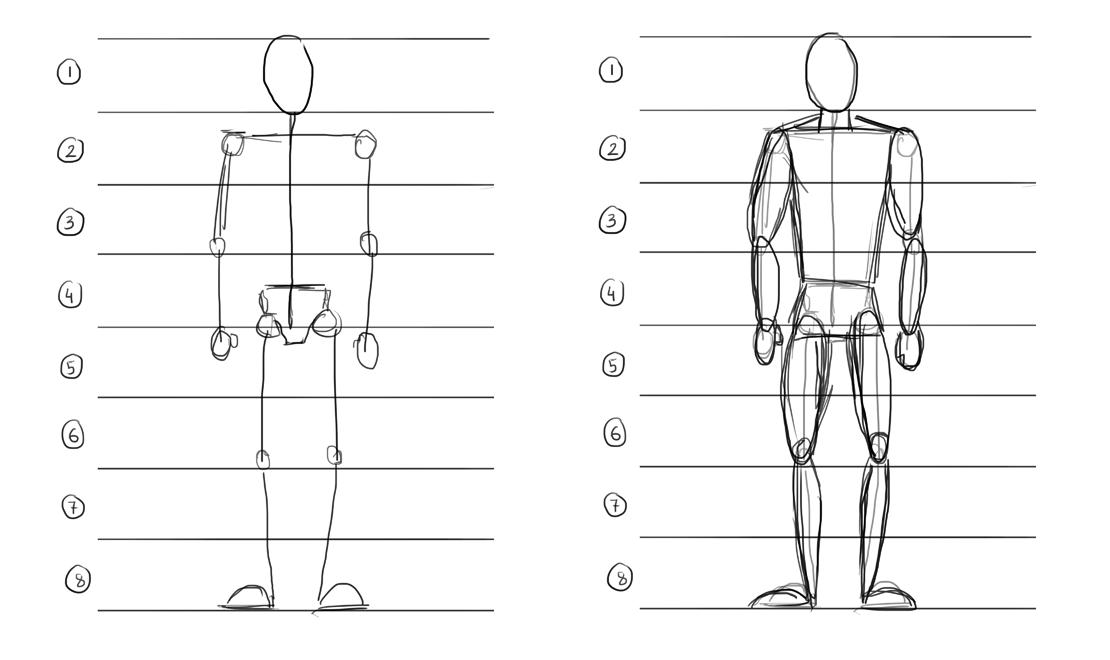 how to draw human body proportions - Recherche Google