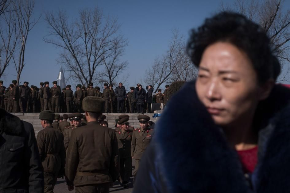 Picture of a woman in North Korea