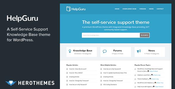 HelpGuru - A Self-Service Knowledge Base WordPress Theme | WordPress ...