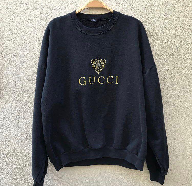 722b701e79 Image of Vintage Gucci Crewneck (black) | Cute Stuff in 2019 | Gucci ...