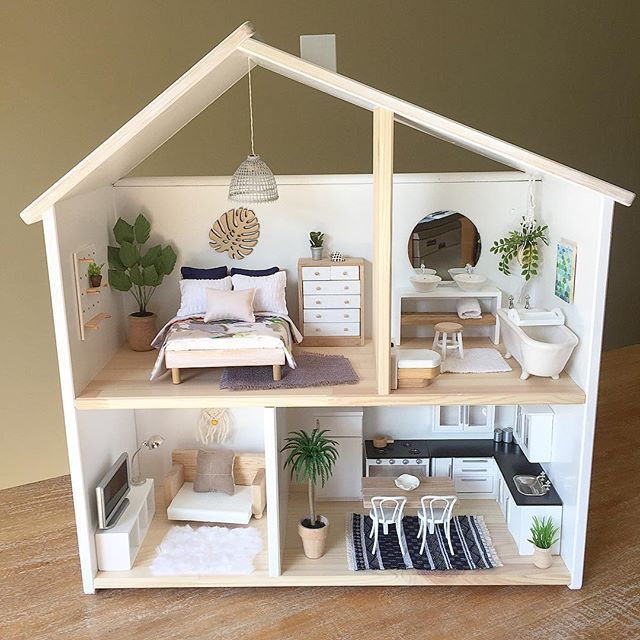 Well Here S My Little Ikea Australia Doll House Makeover My Customer Is Very Happy With Her Little Tropical Retreat I Ll Post Some Close Ups Ikea Dollhouse Diy Dollhouse Doll Furniture
