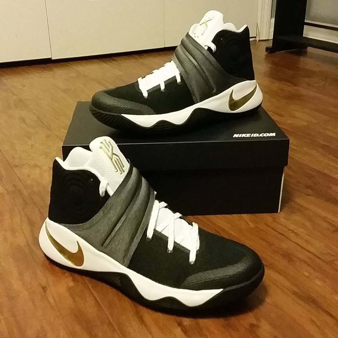 best cheap 651a2 df8a1 2016-2017 Sale Kyrie Irving 2 II Black White Metallic Gold New Arrival 2016