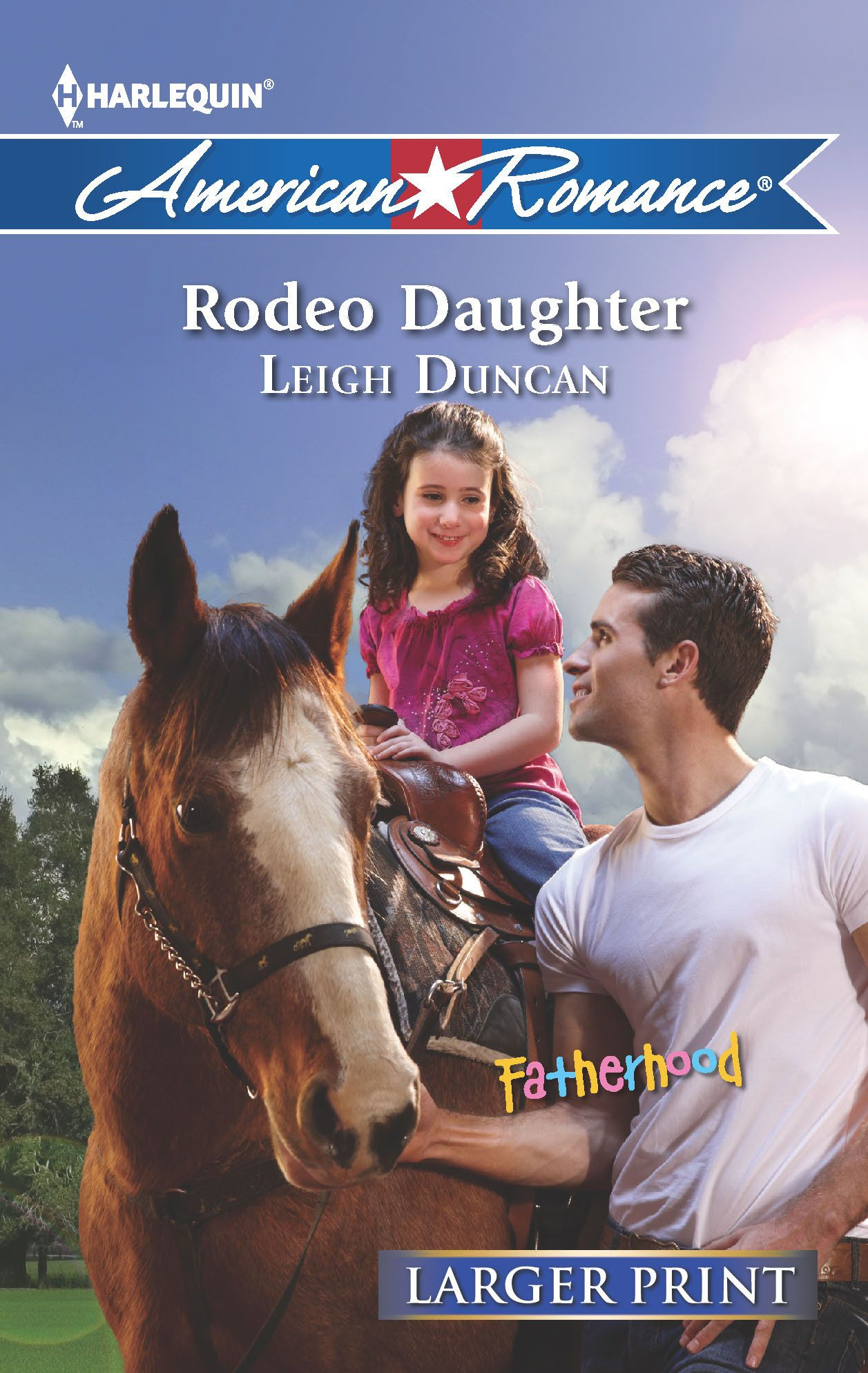 Cover of Larger Print edition of Rodeo Daughter.
