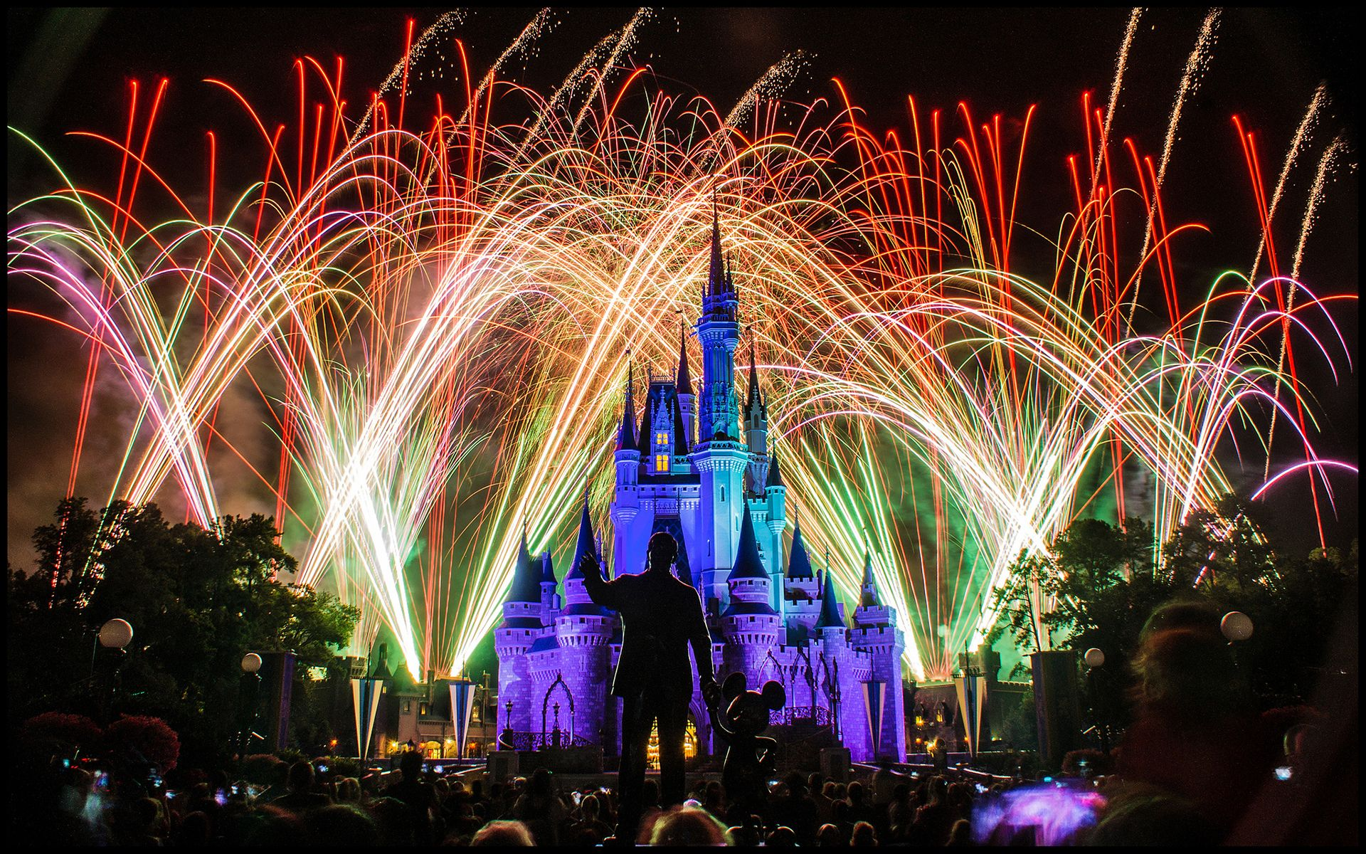 Disneyland Castle Fireworks Wallpaper Epic Car