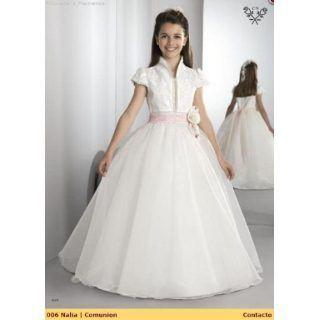 2692511d10 Hermosos vestidos de primera comunion de organza (4) Más