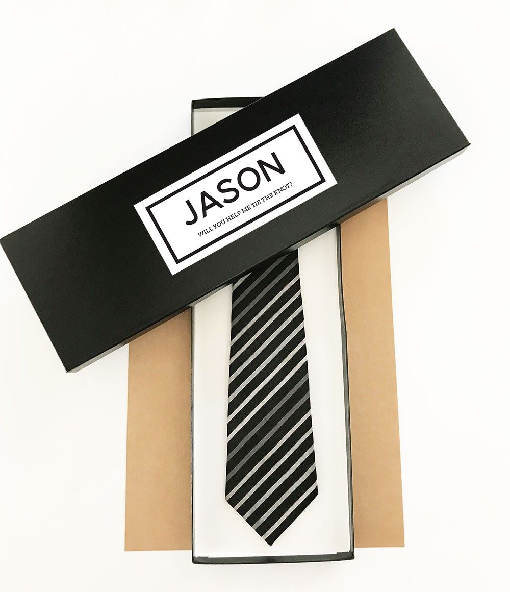 Wedding Gift From Groomsmen: Personalized Tie Box In 2019