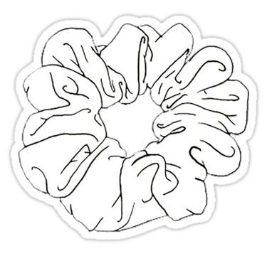 White Scrunchie Sticker Aesthetic Stickers Black And White