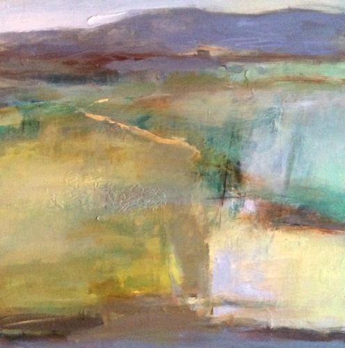 Pool Of Light Abstract Landscape By Joan Fullerton Acrylic 24 X