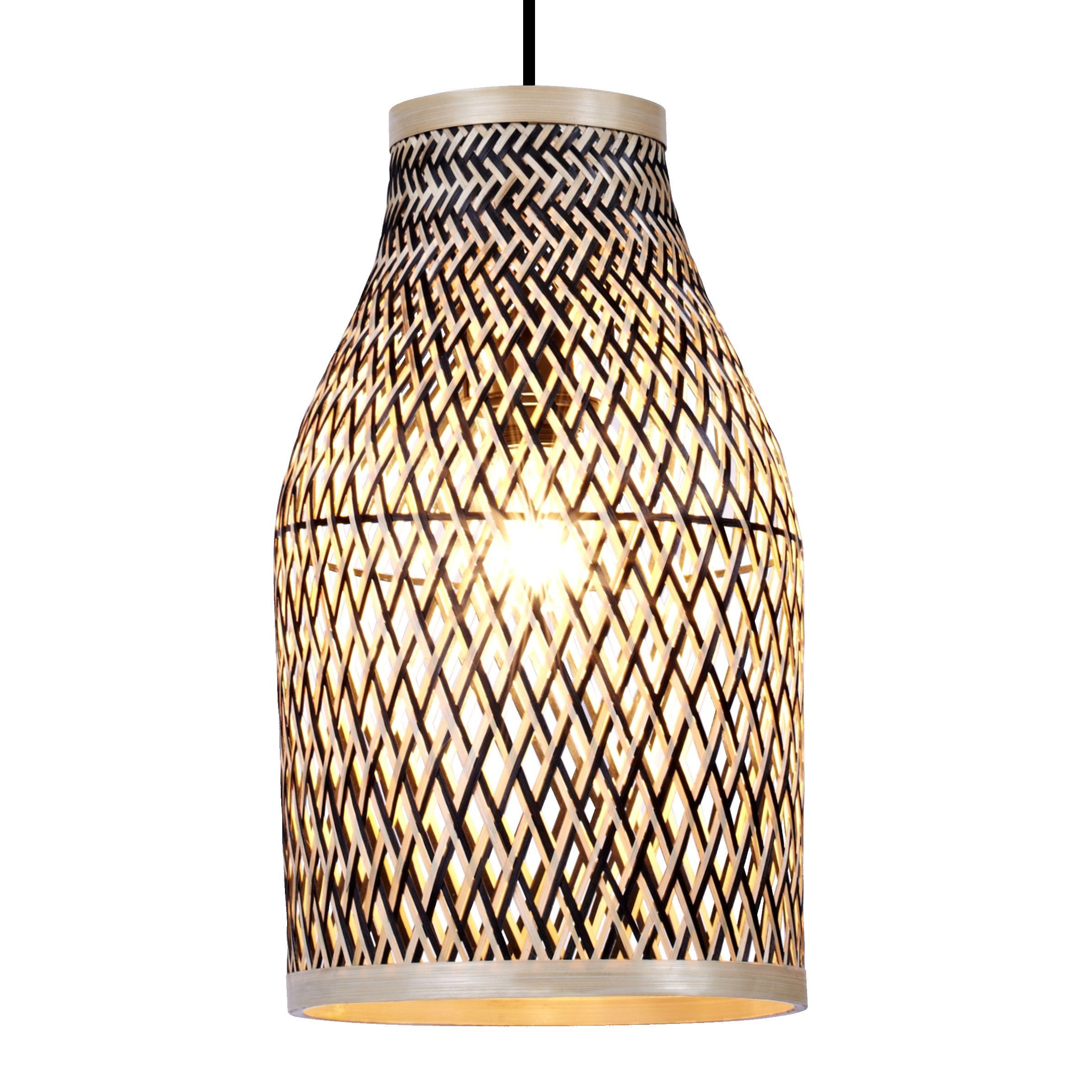 colours pianosa black bamboo light shade d 230mm bamboo light