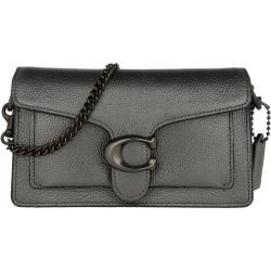 Coach Metallic Leather Tabby Chain Crossbody Bag Graphite in grün Umhängetasche für Damen CoachCoach #metallicleather