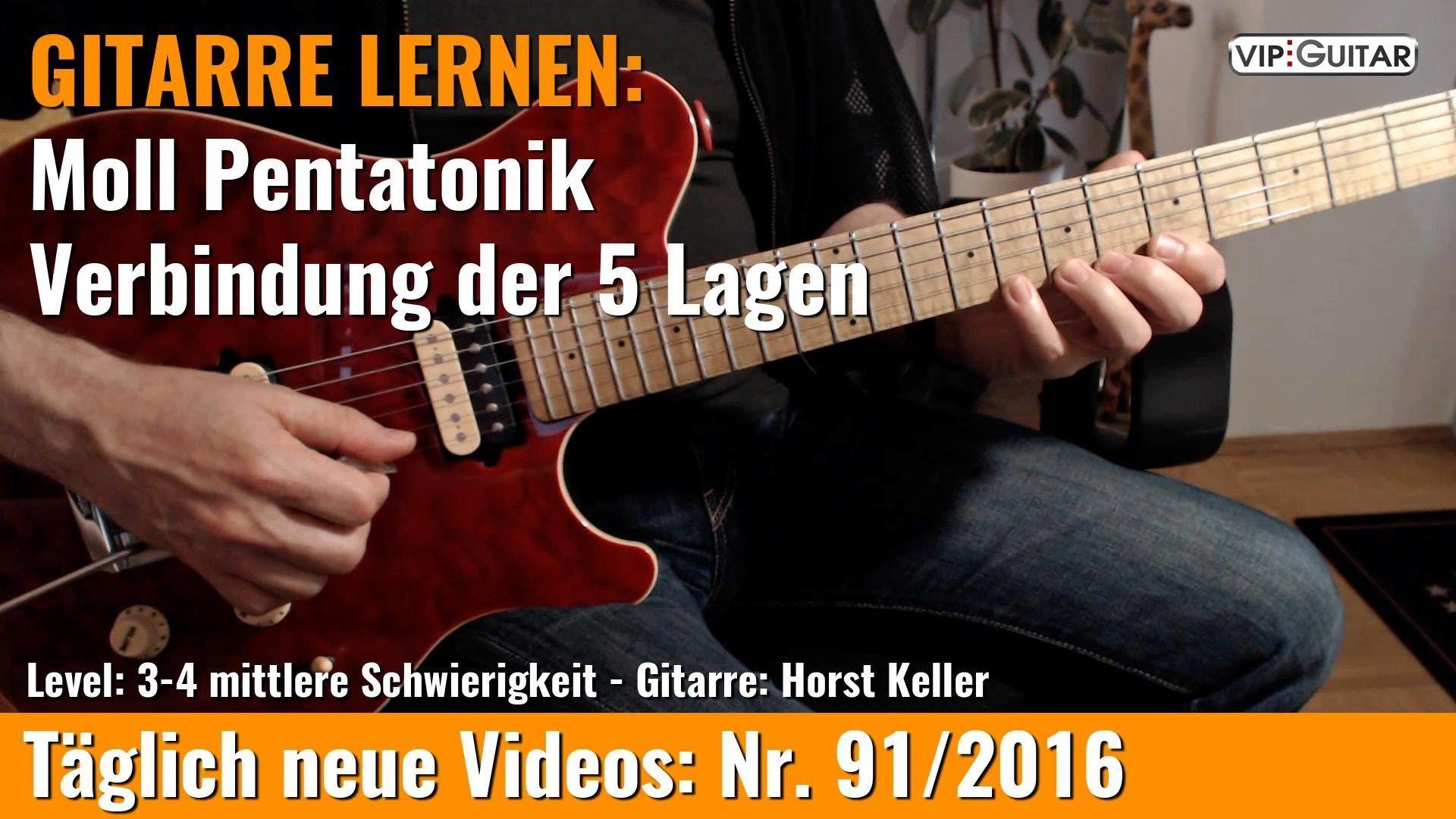 GITARRE LERNEN A Dur Pentatonik Position1 3 er Sequenz VIP Guitar Horst Gitarre lernen Pinterest