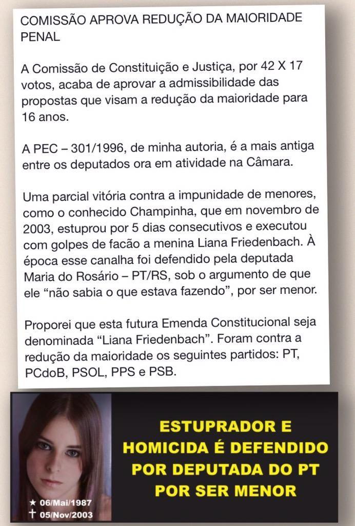 Jair M Bolsonaro On Reducao Da Maioridade Penal Maioridade Votos
