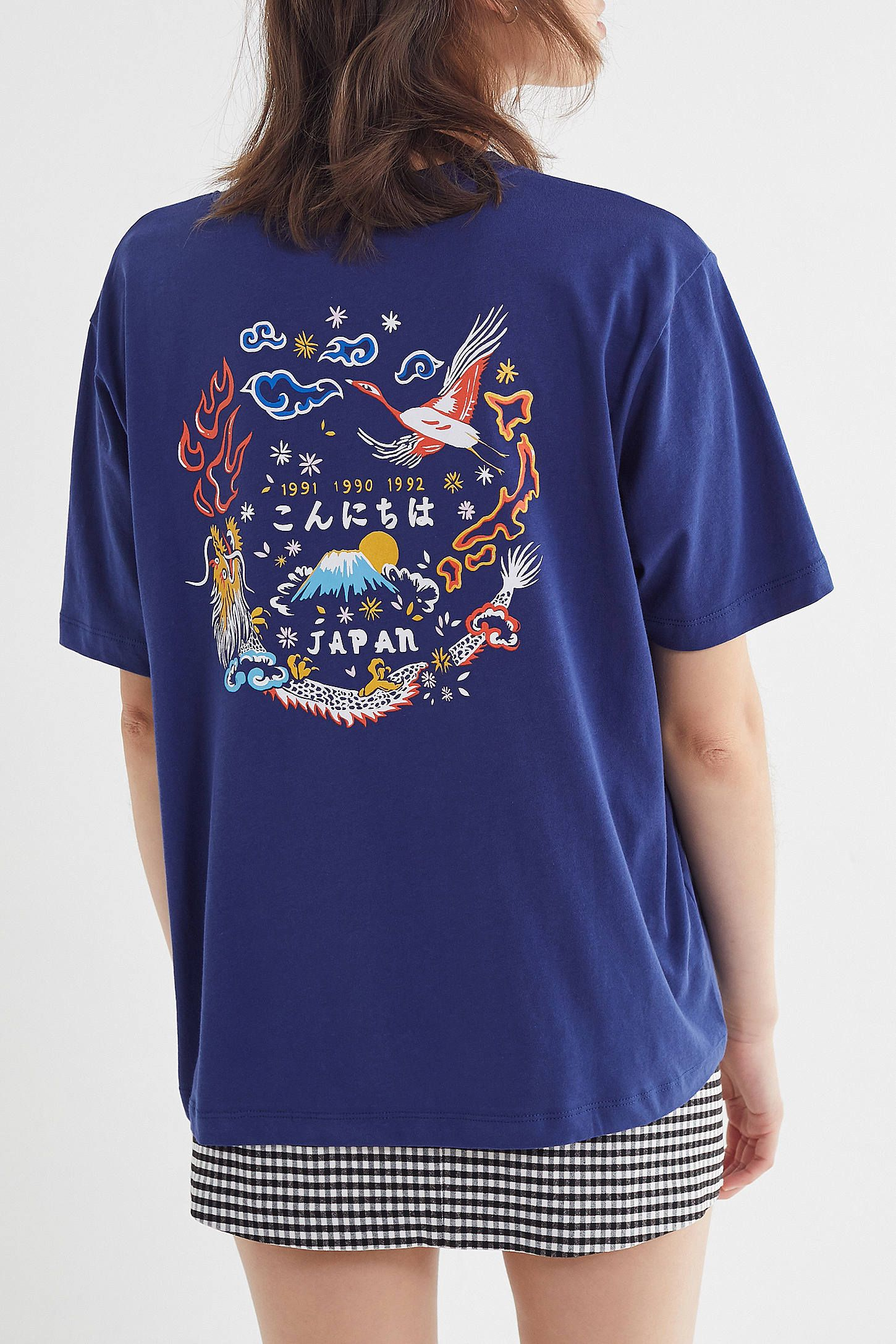 e12d5f93e Embroidered Japanese Art Tee in 2019 | Half | Japanese art, Graphic ...