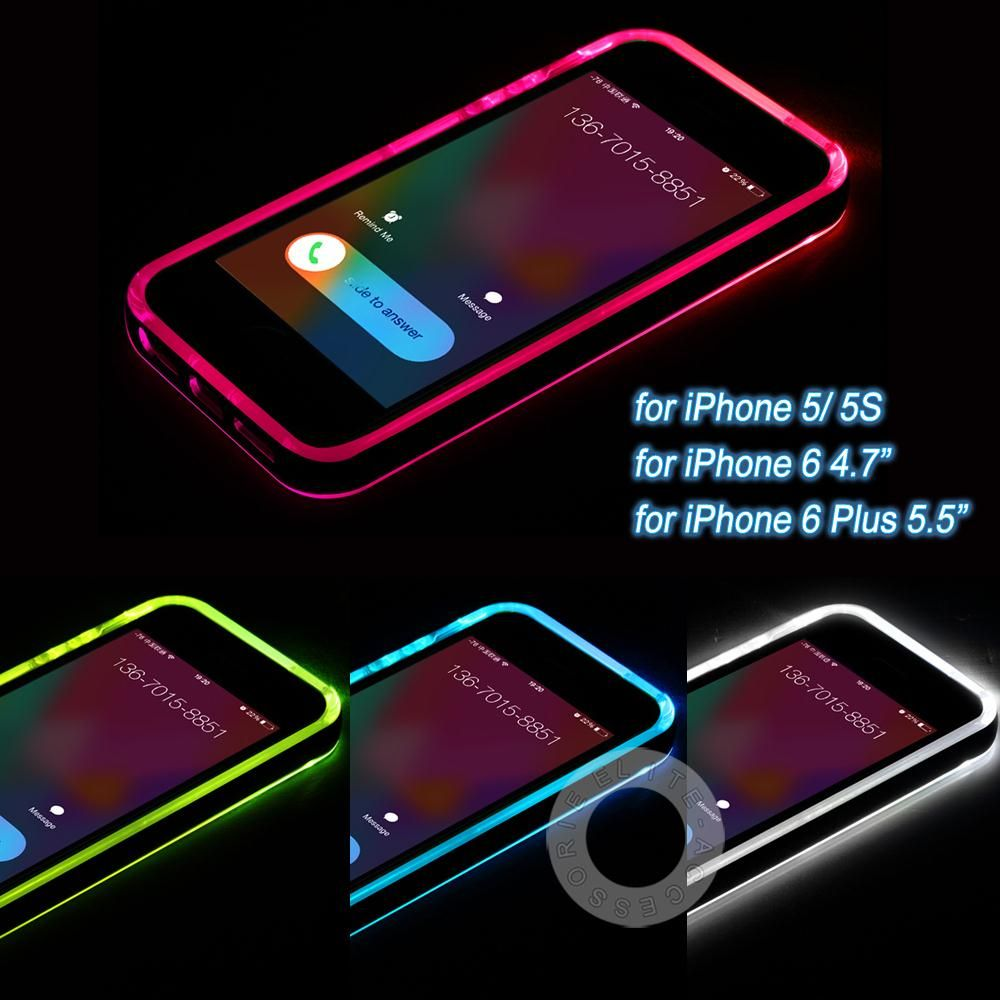 new york 8f293 06b11 New Cheap TPU+PC LED Flash Light Up Case Remind Incoming Call Cover ...