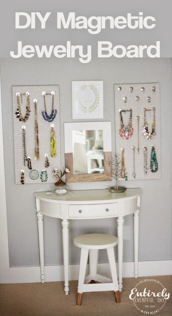 DIY Magnetic Jewelry Board Organizer Entirely Eventful Day