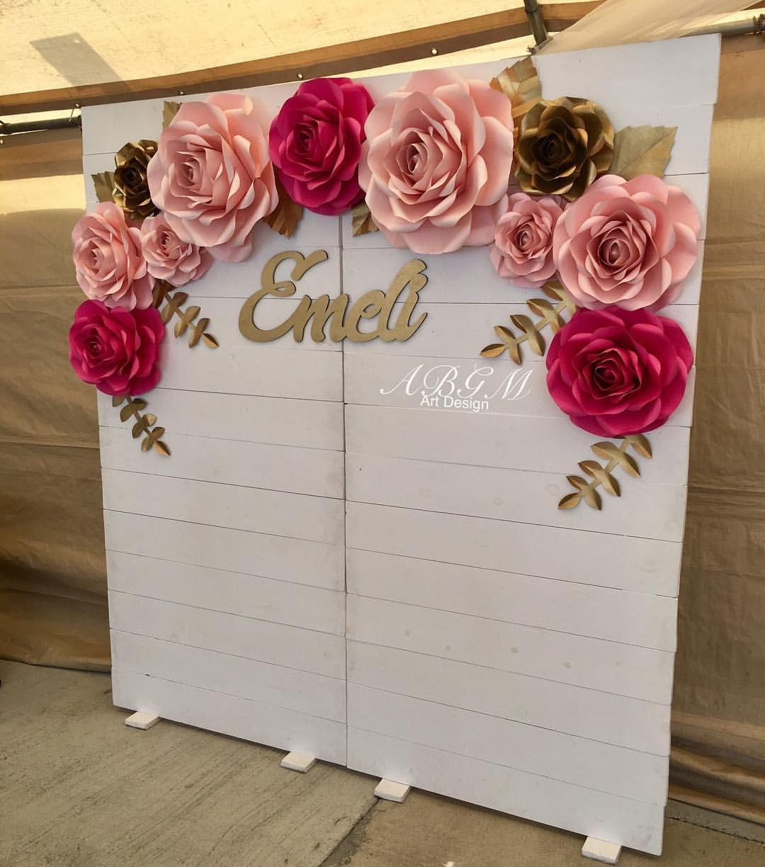Blanca On Instagram Lovely Paper Flower Backdrop For Special
