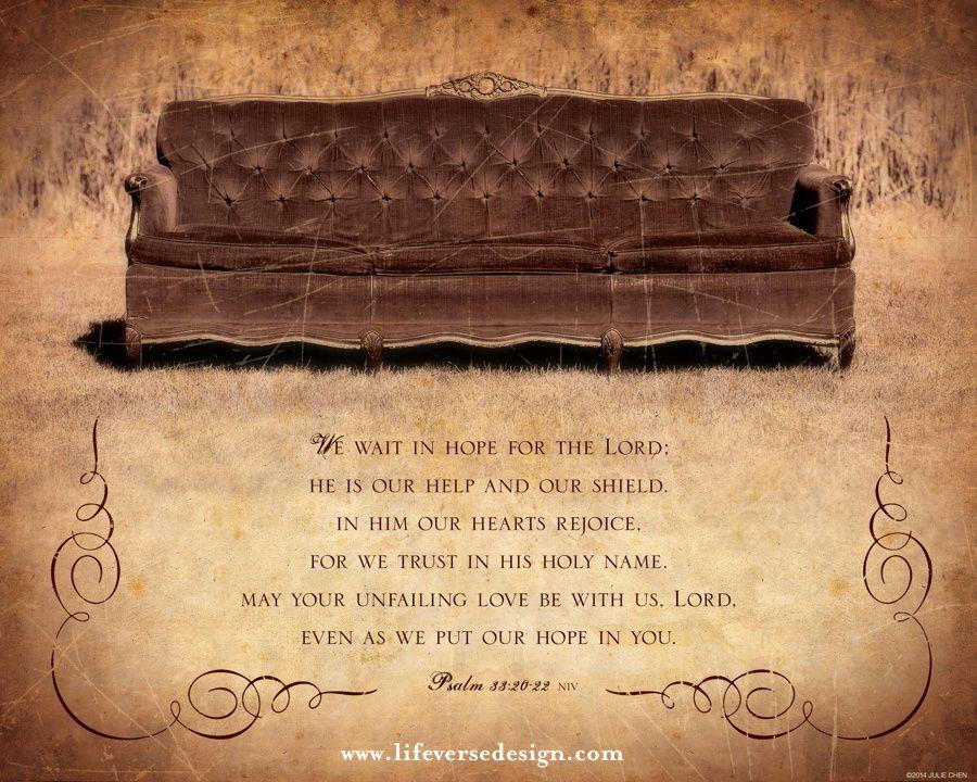 Psalm 33 — We wait with hope - Scripture Art - Bible Verse Art ...