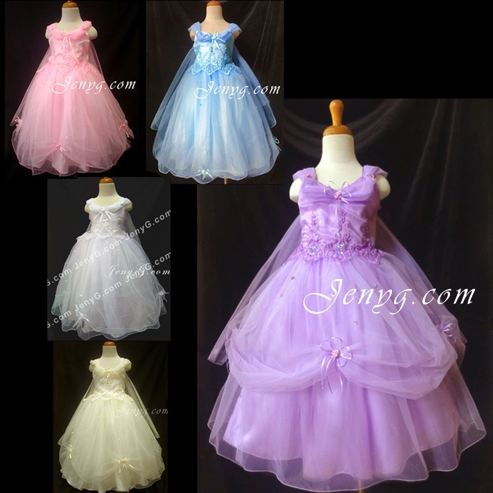 PF51 Flower Girl/Formal/Party Gowns Dresses 3 4 5 6 7 8 9 10 11 12 ...
