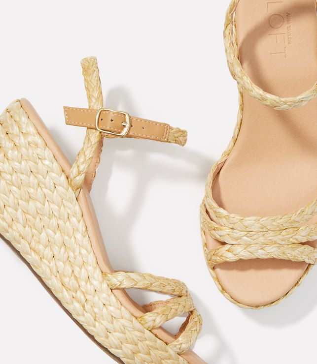 7524e08bced47f Thumbnail Image of Color Swatch 3199 Image of Straw Wedge Sandals ...