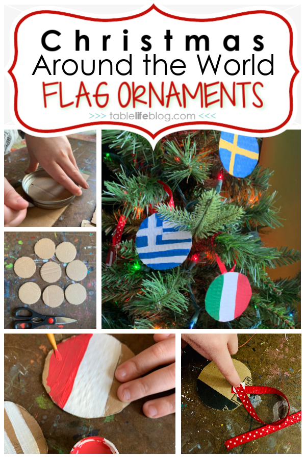 Quick And Easy Christmas Around The World Flag Ornaments Christmas Decorations For Kids Christmas Arts And Crafts Holiday Crafts For Kids