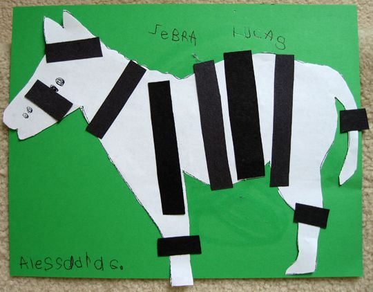 Put Stripes On The Zebra Can Use Paper Or More Fun Licorice
