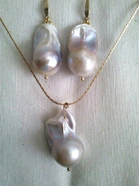0bdd922ad473 Pendientes y colgantes de perlas barrocas