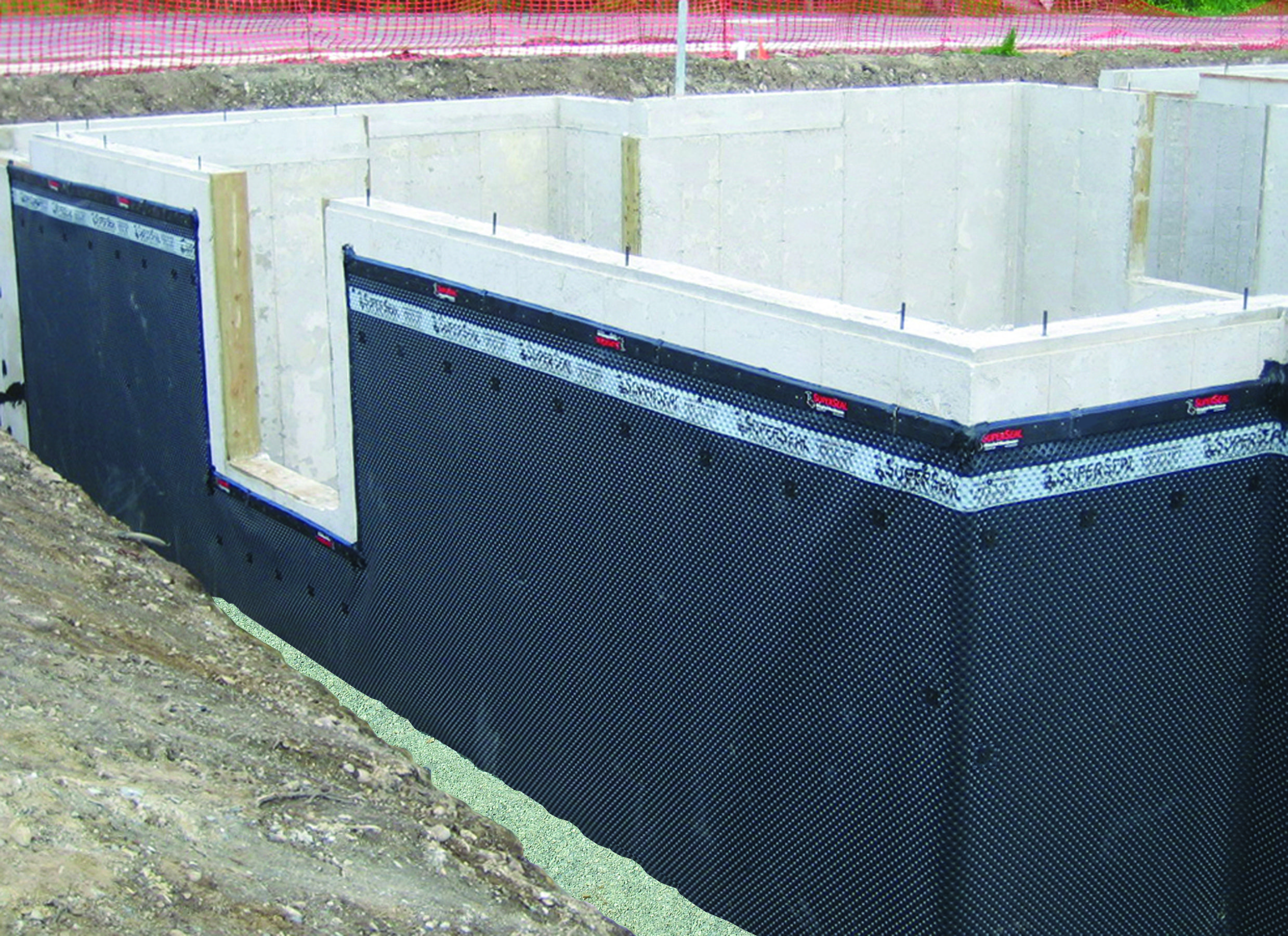 Dimpled Membrane Products For Poured Concrete Foundation