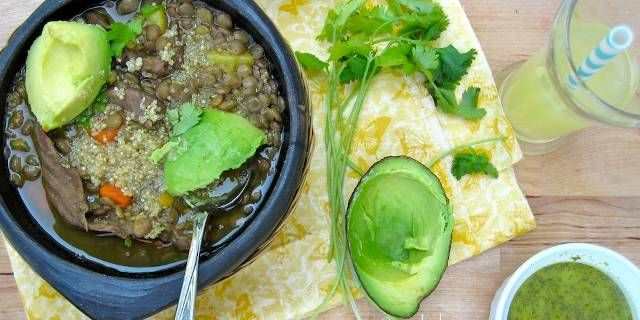 Colombian Lentils Beef And Quinoa Soup Via The Latin Kitchen