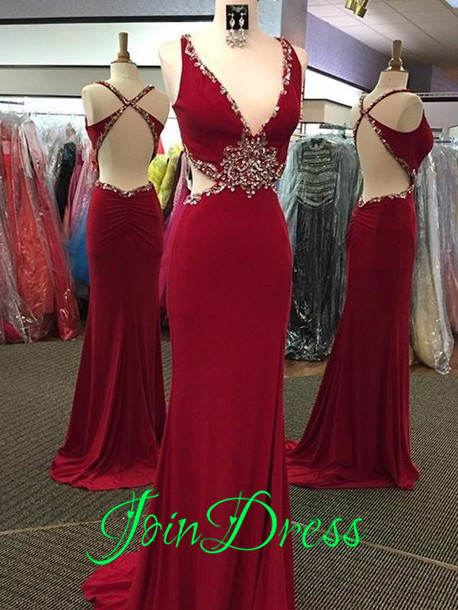 176.00$  Watch now - http://viusi.justgood.pw/vig/item.php?t=d0esrz29880 - Burgundy Chiffon Prom Dresses 2016 Long Sexy Backless Formal Evening Dresses