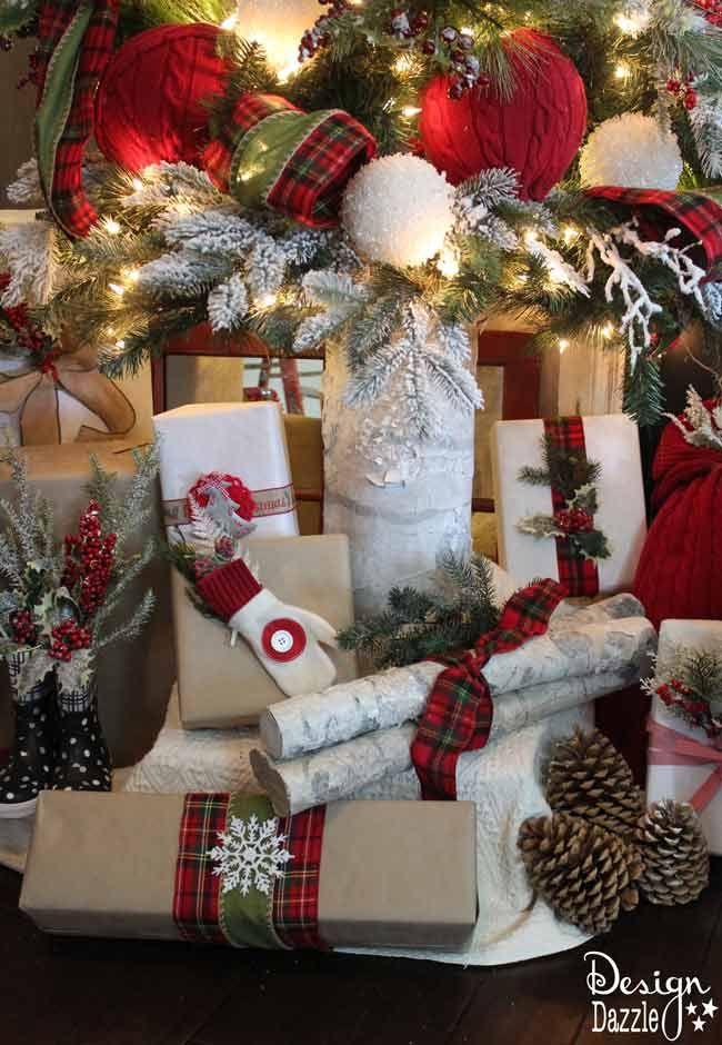 How To Make Diy Faux Fake Birch Logs Michaels Christmas Decoration Supplies Christmas Tree Decorating Tips Michaels Christmas Decorations Michael Christmas
