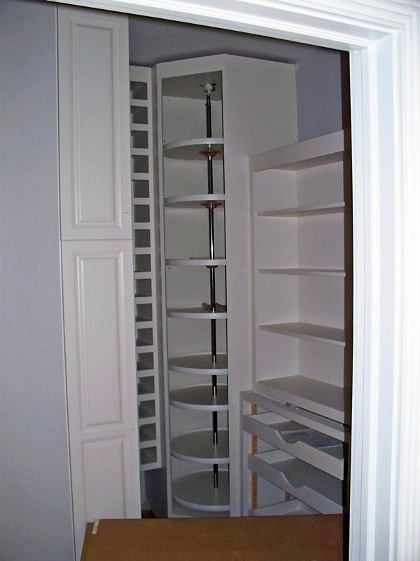Pantry Organizer   Floor To Ceiling Lazy Susans In Corner And Pull Out  Drawers/baskets
