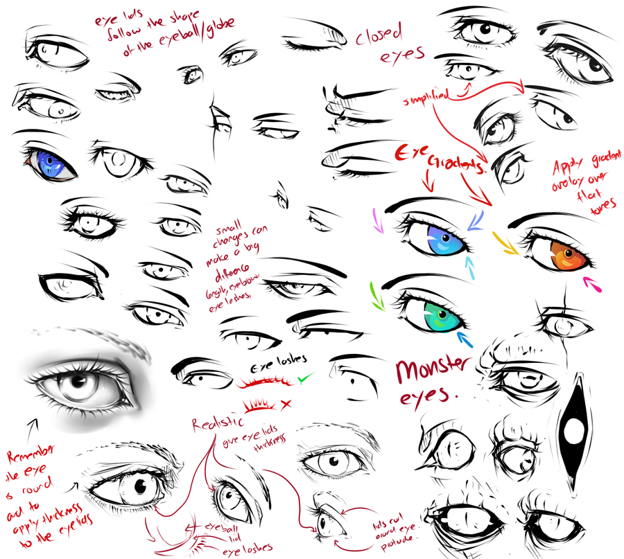 Anatomy And Drawing Tips By Moni158 On Deviantart Eye Drawing Tutorials Nose Drawing How To Draw Anime Eyes