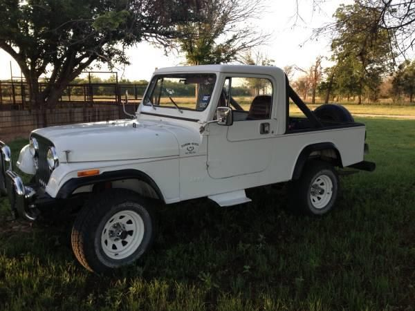 This 1984 Jeep Scrambler is listed on Carsforsale.com for $13,499 in Calabasas, CA. This vehicle includes 8 Track Player