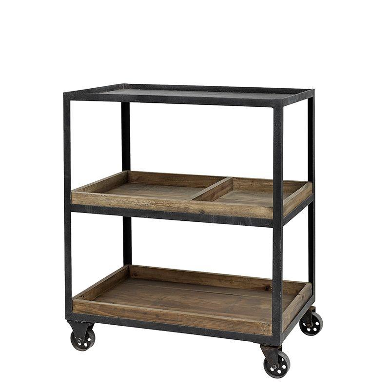 Tisch Trolley Ale Eisen Und Holz Von Nordal 522 00
