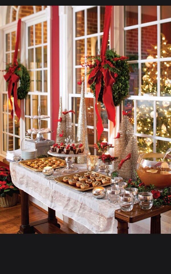 Christmas Appetizer Table Christmas Party Table Decorations Christmas Party Table Elegant Christmas Party