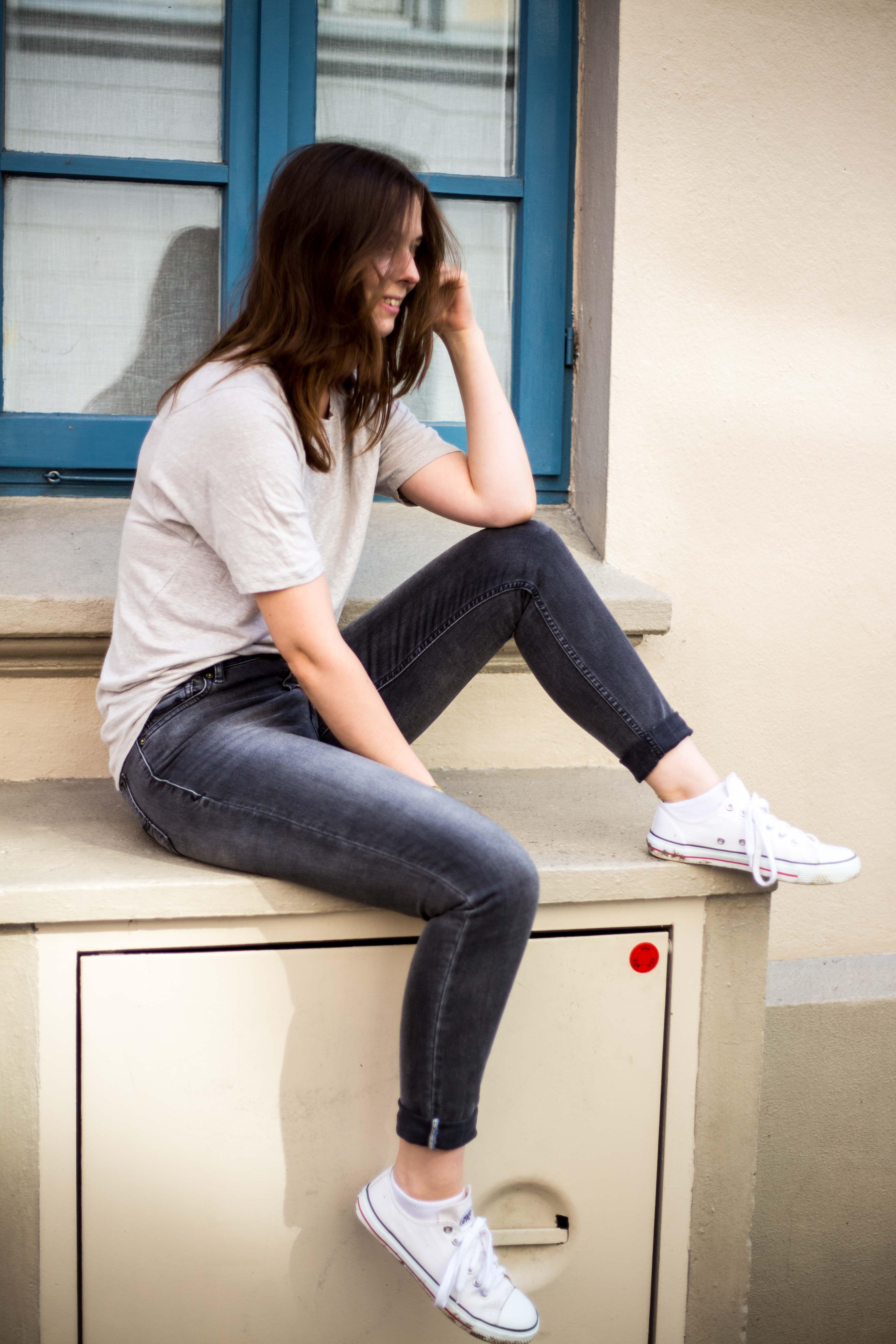 Keeping It Simple – Leinen T Shirt mit Jeans