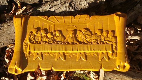 Last Supper Wood Carving Jesus Christian Wall Art | Christian wall art