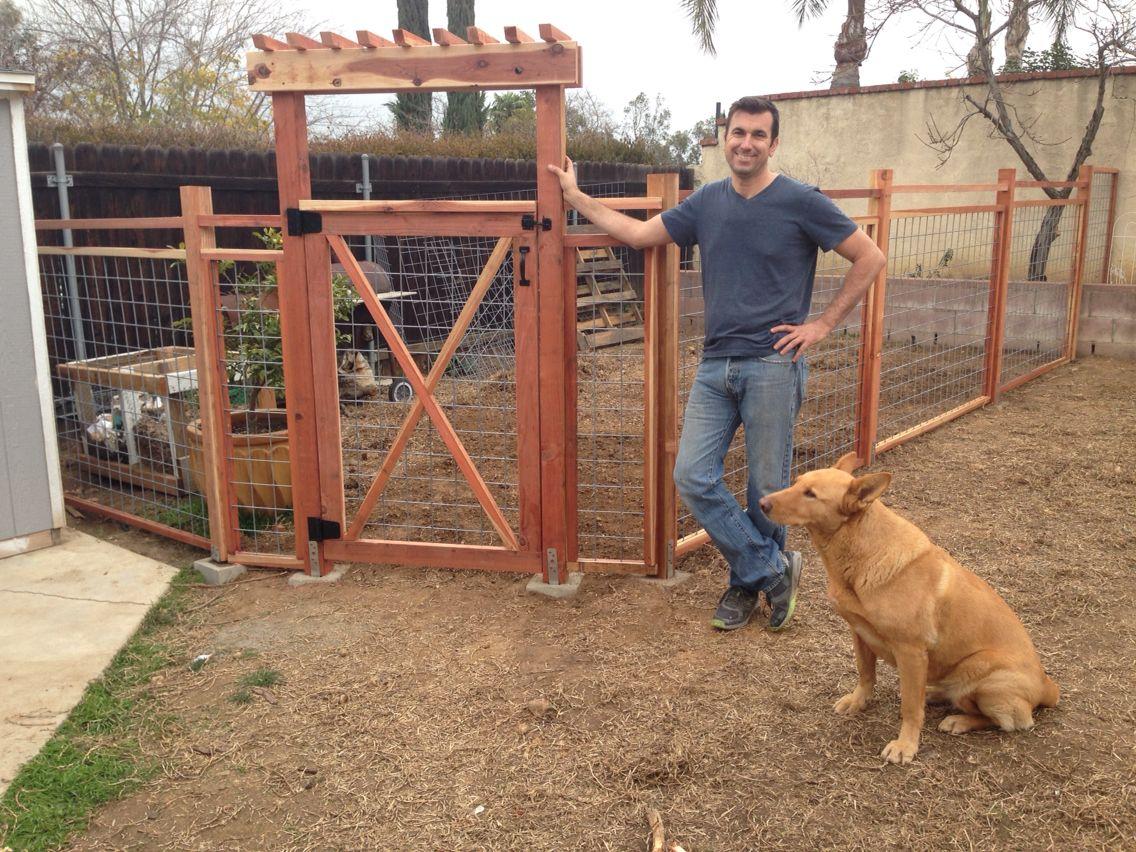 Redwood Garden Fence Cross Buck Gate Utility Panels From