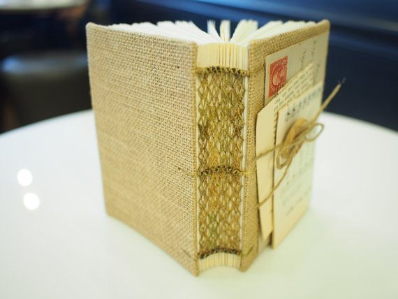 Natural Hemp Journal Handmade Journal Travel by AnotherPageBindery