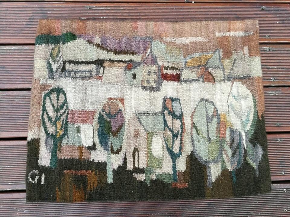 Gobelin Kilim Cepelia Na Skraju Wsi Rekodzielo 8779304767 Oficjalne Archiwum Allegro Tapestry Vintage World Maps Art
